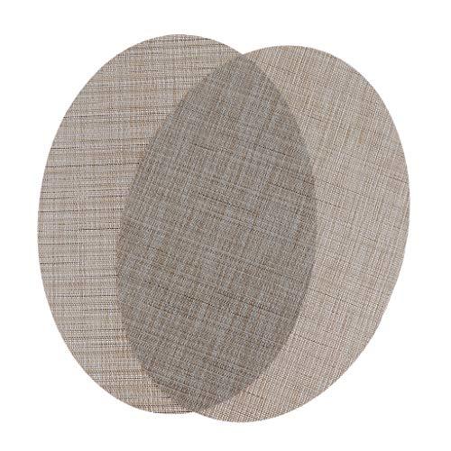 Baoblaze Tapis de Table Couverture Housse Napperon Facile à Nettoyer Durable - Rayures Verticales Beiges