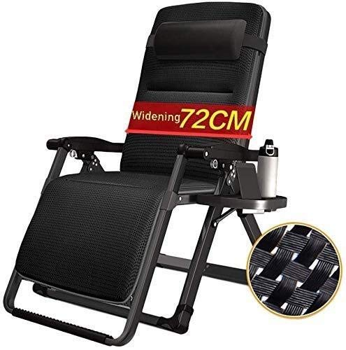 Miwaimao Sonnenliege Sonnenliege Stühle Aufmaß Zero Gravity Locking Patio Lounger Chair Freizeit-Stuhl Faul Sofa Heim Lounge Chair Folding Strand Liegestuhl Unterstützung 200kg Folding Deck Chair (mit