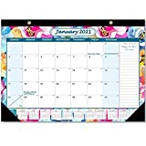 Cuasting Calendario de escritorio 2021 12 meses mensual calendario 2021 agenda...