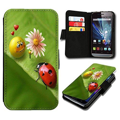sw-mobile-shop Book Style Sony Xperia E3 Premium PU-Leder Tasche Flip Brieftasche Handy Hülle mit Kartenfächer für Sony Xperia E3 - Design Flip SB474