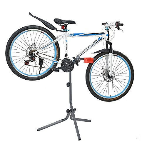 [Neu.Haus]®] Pied d'atelier pour vélo Hauteur réglable Support de Montage pour vélo Stand de...