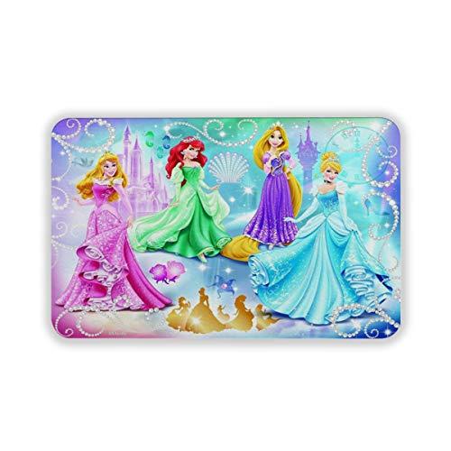 Alfombra de princesa Disney para interiores y exteriores, para puertas delanteras, de 60 x 40 cm