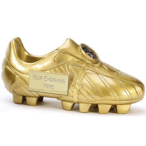 Scarpa da calcio trofeo dorata in 3D,12,75cm, personalizzabile