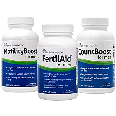 FertilAid for Men, MotilityBoost, Countboost Bundle ( 1 Month Supply) from Fairhaven Health