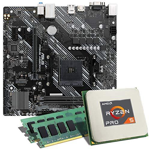 AMD Ryzen 5 PRO 4650G / ASUS Prime A520M-K Mainboard Bundle / 16GB | CSL PC Aufrüstkit | AMD Ryzen 5 PRO 4650G 6X 3700 MHz, 16GB DDR4-RAM, GigLAN, 7.1 Sound, USB 3.1 | Aufrüstset | PC Tuning Kit