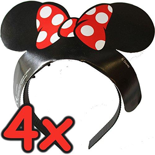 Disney PR88639 haarband met oren en strik, meerkleurig, 4 stuks
