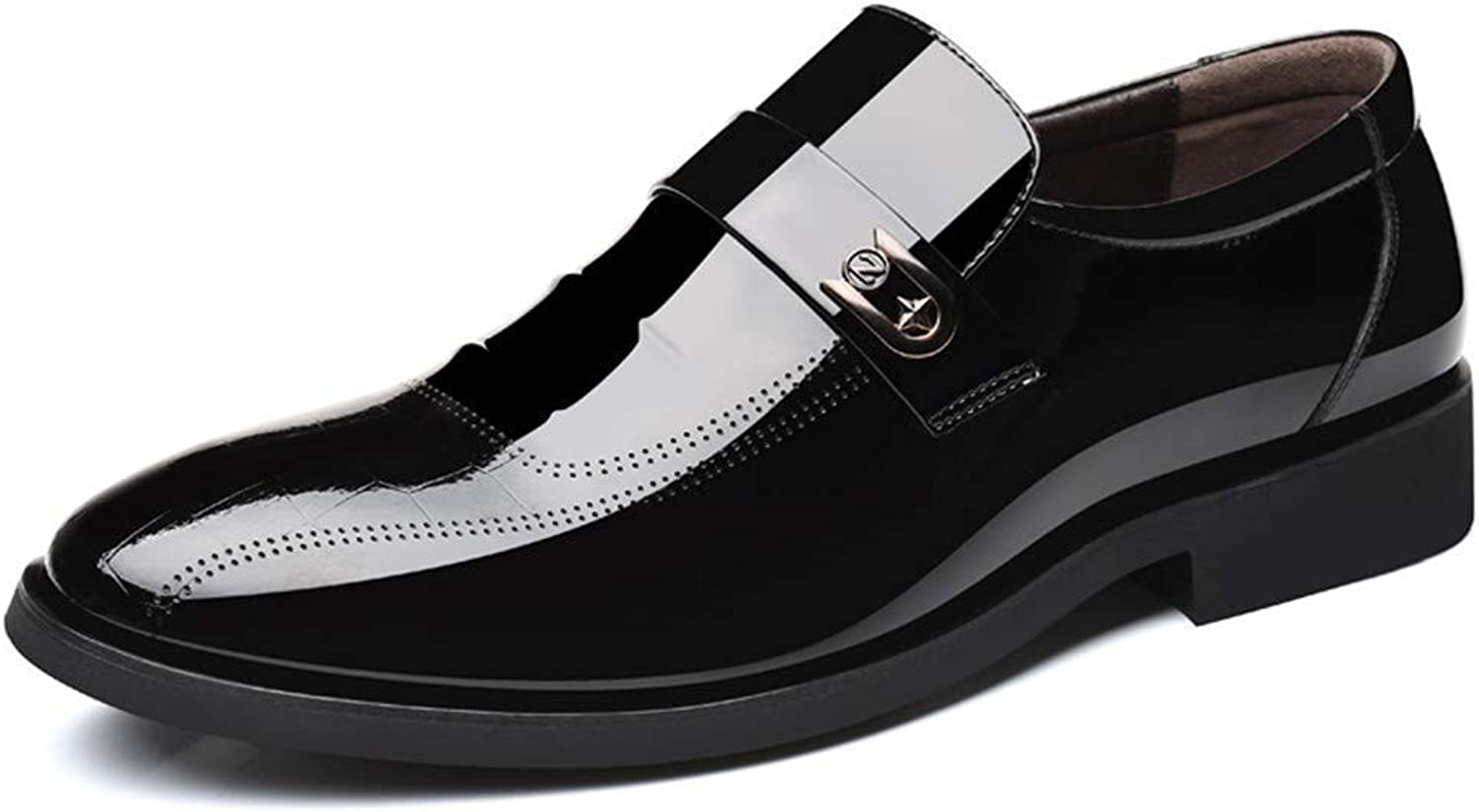 FuweiEncore 2018 Men Business Oxford Casual Lace-up Style And Foot Style Patent Leather Formal shoes (color  Lace Brown, Size  42 EU) (color   Black, Size   44 EU)