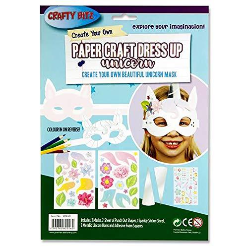Premier Stationery Maak je eigen papieren ambachtelijke eenhoorn masker