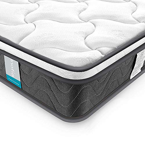 Twin XL Mattress, Inofia 8 Inch Hybrid Pocket Spring Foam Bed Mattress with Dual-Layered Breathable Cool Cover, Twin XL