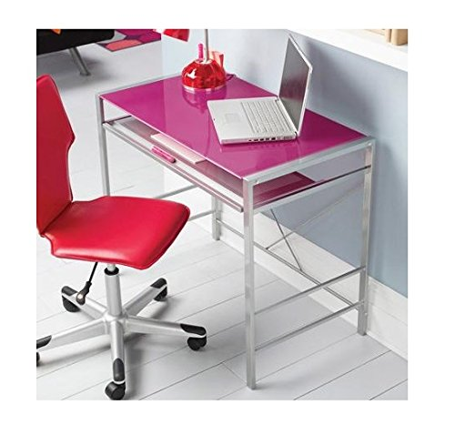 Mainstays Stylish Glass-top Desk Brings...