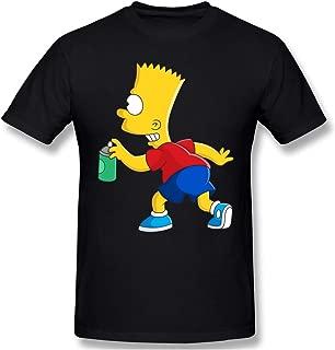 LiuYeWen Bart-Simpson Mens Limited Edition Short Sleeved T-Shirt Classic Black