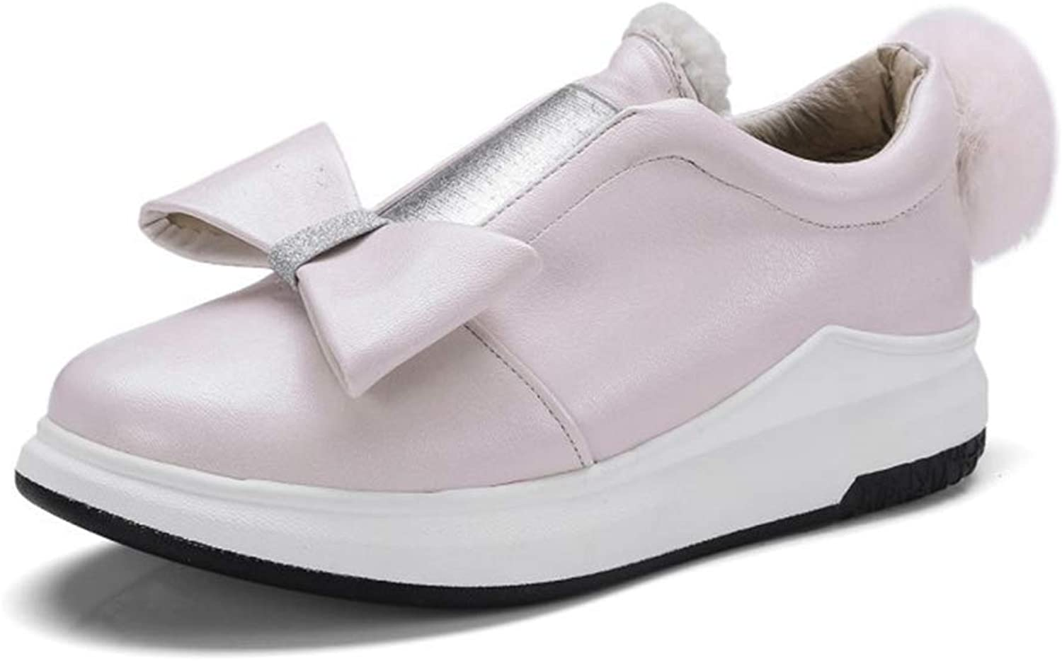 Btrada Women's Fashion Sneakers Casual Slip On Loafers Cute Bowknot Wedges Non-Slip Flats Walking shoes