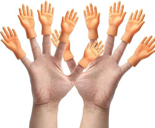 Yolococa Tiny Hands Petites Mains Marionnettes à Doigt Mains Gauche et Droite Tours de Magie pour Famille Ami Jeux Fê...