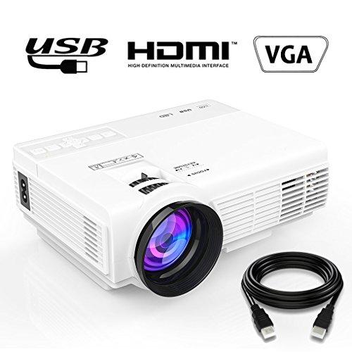 Vidéoprojecteur Portable Support 1080P Full HD - Maxesla Mini LED Projecteur Vidéo Multimédia Théâtre, Soutien HDMI USB VGA AV SD, LCD Projecteur de Cinéma Maison pour PC, Ordinateur, Xbox, TV