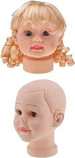 Jili Online 2pcs Kids Children Hats Caps Wigs Display Mannequin Manikin Head - Boy and Girl Face Models