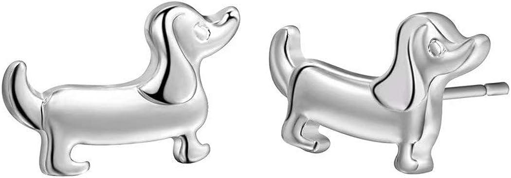 Tiny Cute Dachshund Stud Earrings,Wiener Dog Gift for Women girl