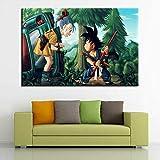 HUGF Pinturas en Lienzo Canvas HD Impreso Poster Wall Art Anime Pictures 1 Pieza/Set Dragon Painting Kids Room Home Decor