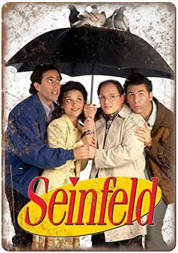 Seinfeld Tv Show Blechschild Retro Blech Metall Schilder Poster Deko Vintage Kunst Türschilder Schild Warnung Hof Garten Cafe Toilette Club Geschenk