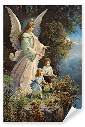 Postereck - Poster 0152 - Schutzengel und Kinder, Altes Gemaelde Engel Religion - Größe DIN - A3 - 29.7 cm x 42.0 cm