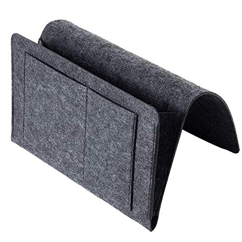 Bolsillo portaobjetos para cama, mesita de noche, cama con aspecto de Caddy, bolsa de enganche, revisa el teléfono y soporte del tejido del organizador de almacenamiento para habitación, salón, c