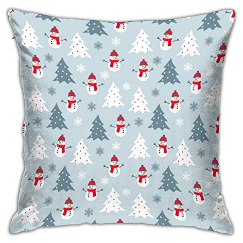 Airmark Two Sides Design Printed Throw Pillow Covers,Christmas-Background (215) Square 18x18 Inch Throw Pillow Cover