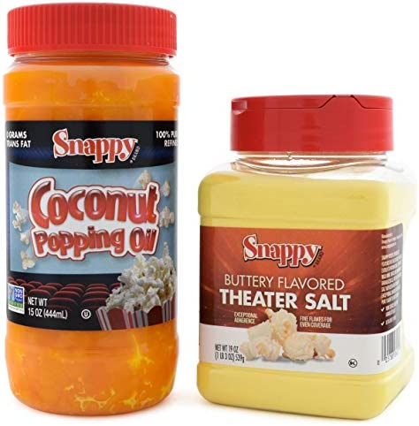 Snappy Pure Colored Coconut Popping Oil 15 oz Buttery Flavored Theater Popcorn Salt 19 oz product image