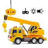 deAO RC Série de Camion de Construction Radiocommandés - Véhicule avec Lumières et Sons Niveau Débutant (Camion Grue)