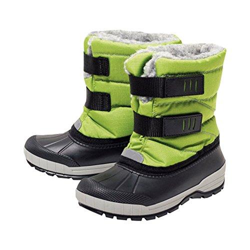 WALKX Kinder Jungen Schneestiefel Stiefel gefüttert Regenstiefel Schmutz- und wasserabweisend ausgerüstet (33-34, Grün)