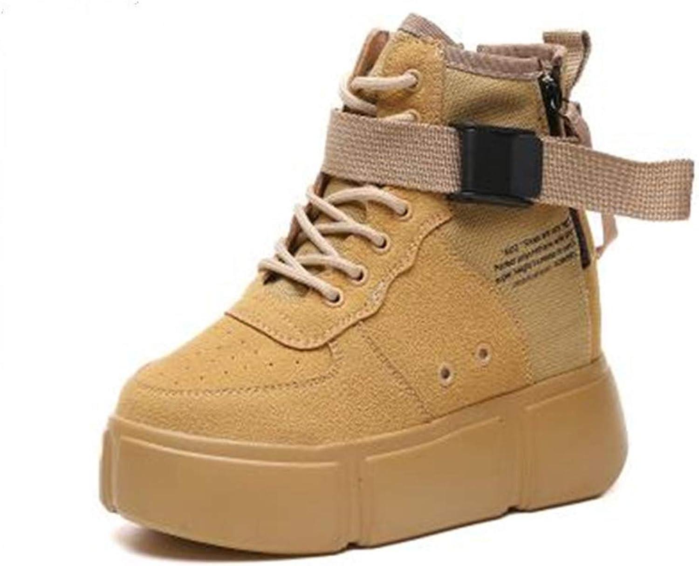 T-JULY Autumn Women High Heels Fashion Casual Wedge Sneaker Female Height Increasing Platform shoes