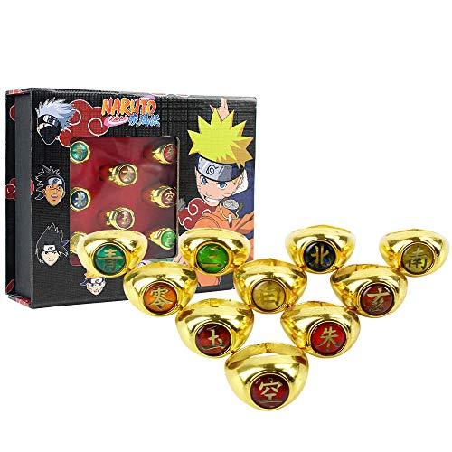 CXNY Naruto Akatsuki Uchiha Itachi Anillo Cosplay Prop Orochimaru Sasori Hidan Deidara Pein Accesorios