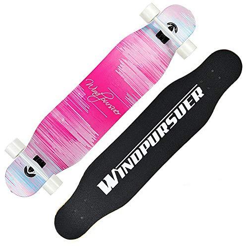 LJHBC Skateboard Deck Longboard Skateboard Male and Female Beginners Double Kick Board Maple Deck 80A High Elastic PU Wheel 110x25x12cm (Color : #5)
