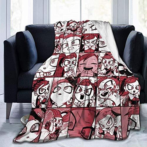Lawenp Endeavour My Hero Academia Collage Patrón Rojo Manta de Franela de Anime Manta de Colcha Ultra Suave Decoración Duradera para el hogar sofá Cama M (60 x 50 Pulgadas) para adoles