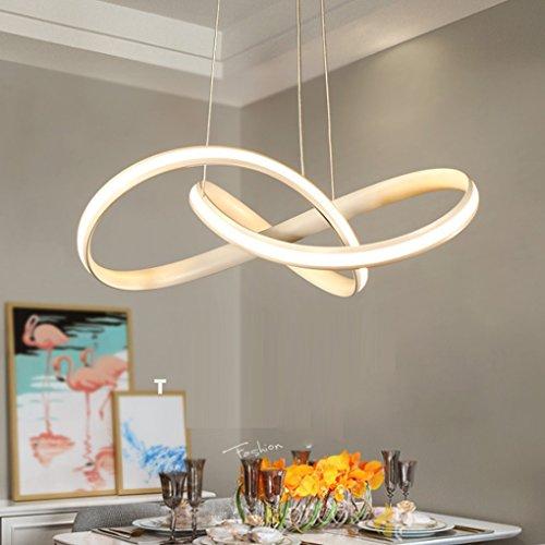 sxyszy A sospensione in alluminio LED Minimalismo lampadario moderno ferro bianco luce creativa Soggiorno Sala da pranzo Camera da letto Studio Lampada a sospensione