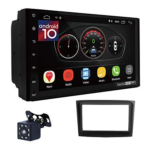 UGAR EX10 7' Android 10.0 DSP Navigazione GPS per Autoradio + 11-636 Kit di montaggio compatibile con FIAT Doblo 2015+