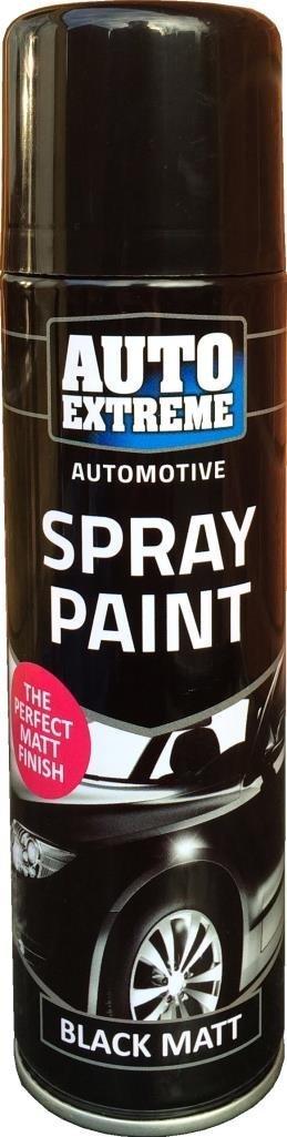 250 ml Auto Spray de pintura negro mate 1900 bicicleta para coche ...