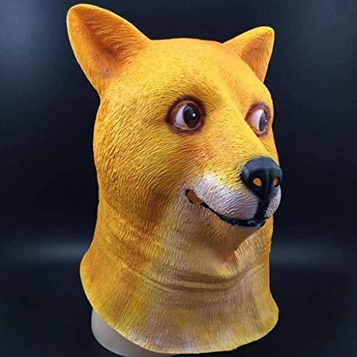 86XH Punk Maske Halloween-Maske, Loyal Hundekopf Latex Gelatin Maske Hund Tiara Spaß-Halloween-Kostüm-Party for Kinder Maske und Erwachsene PinBaiYa