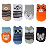 Little Me 8-Pack Baby & Infant Boy Socks, 0-12 Months, Solids Space Dye & Textured