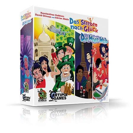 Preisvergleich Produktbild Kobold Spieleverlag Das Streben nach Glück - Die Weite Welt Erweiterung Brettspiel deutsch