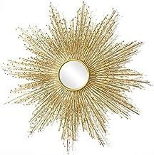 AI LI WEI Daily Necessities Espelho de ferro para decoração de casa, formato de sol dourado, criatividade, espelho de entr...
