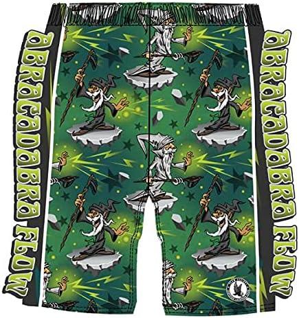 Flow Society Wizard Abracadabra Flow Boys Athletic Shorts Green
