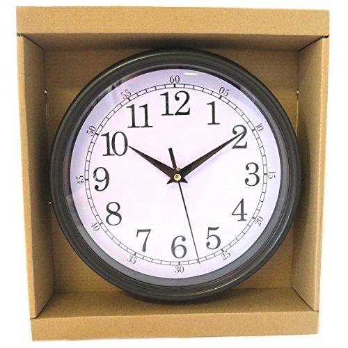 Les Trésors De Lily [Q0828 - Horloge Murale 'Vintage Design' Noir - 22x4.5 cm