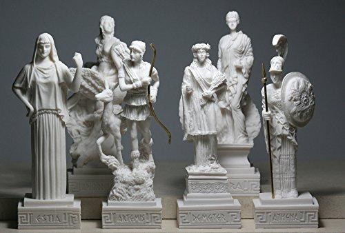 6 griechische Göttin Hestia Aphrodite Hera Athena Artemis Demeter Statue Figur