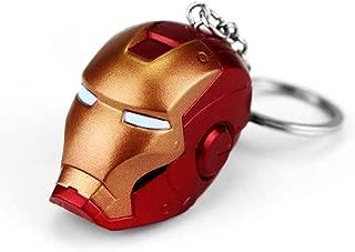 GFDay The Avengers Marvel 3D Iron Man Mask Helmets Superhero Figure Alloy Keychain Key Ring (Style 02)