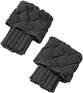 Mujer Calientapiernas Calcetines Otoño invierno Corto Calcetines Calcetín de punto Leg Warmers Calcetines de botas Medias de lana Calentar Cubierta del pie