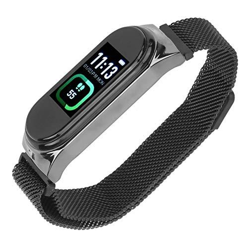 Rastreador de ejercicios, pulsera deportiva inteligente, pulsera de fitness impermeable con monitor de frecuencia cardíaca, medición de temperatura con conteo de pasos, reloj con podómetro para mujere