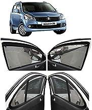 AUTOFACT Magnetic Window Sun Shades for Maruti Suzuki WAGONR (2010 to 2018) -Set of 4 - with Zipper