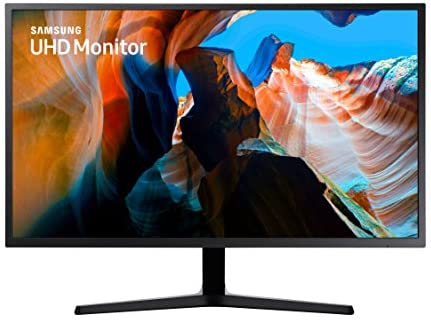 SAMSUNG 32 inch UJ59 4k monitor (LU32J590UQNXZA) - UHD, 3840 x 2160p, 60hz, 4ms, Dual monitor, laptop monitor, monitor stand / riser / mount compliant, AMD FreeSync, Gaming, HDMI, DP, Black