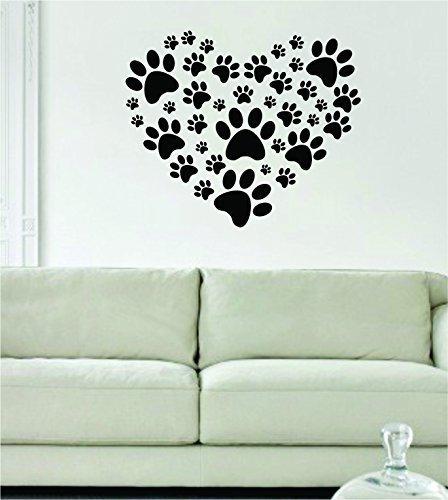 Calcomanía de vinilo para pared, diseño de huellas de perro, diseño de animal