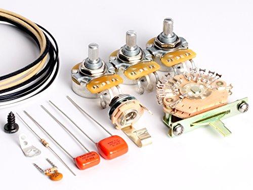 ToneShaper Guitar Wiring Kit, For Fender HSS Stratocaster, HSS2 (Auto-Split Wiring)