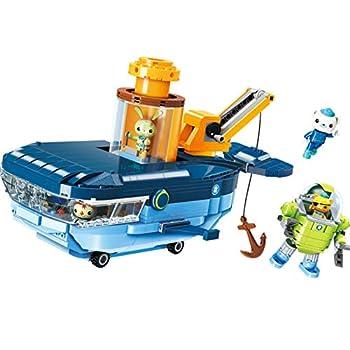 for Age 6+ Building Block Octonauts GUP-C Blue Whale Vehicle & Barnacles Kwazii Tweak 630pcs Building Brick Set-Without Original Box
